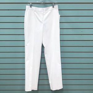 Ann Taylor White Dress Pants Kate Fit